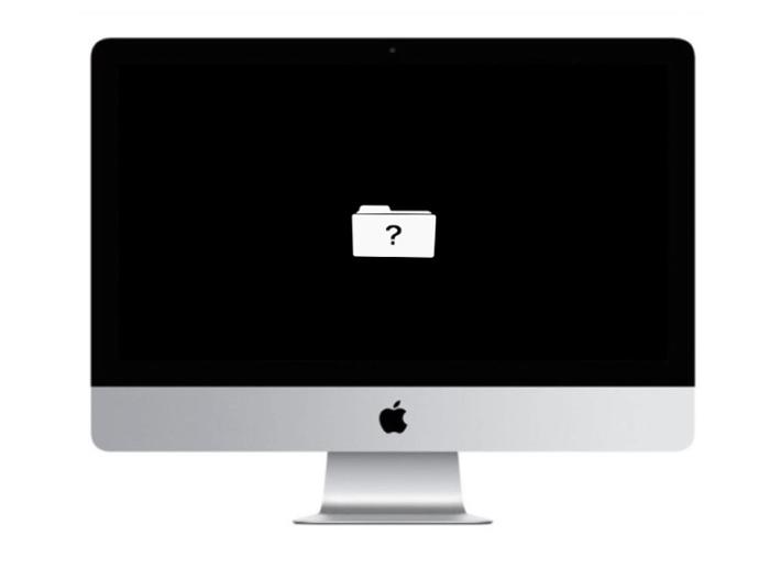 imac repair dallas question mark sign apple